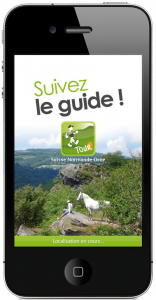 accueil de l'application mobile mobitour - Suisse Normande