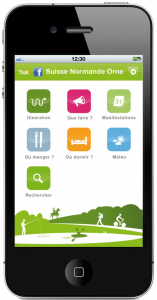 application mobile mobitour - Suisse Normande