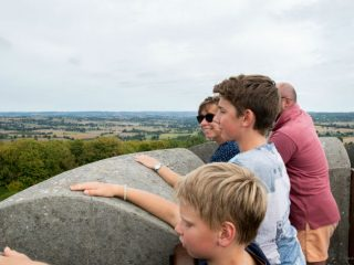 Site de l'orne en Normandie, le parc de Cerisy et le chateau