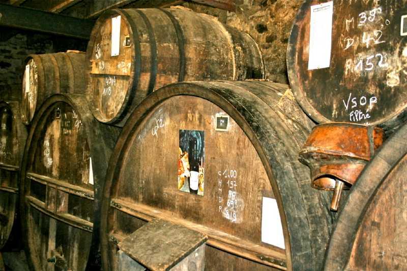 Tonneau à la distillerie de la Monnerie