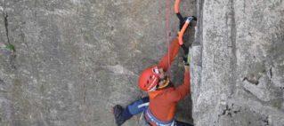 Grimpeur dry tooling escalade à Saint Clair de Halouze