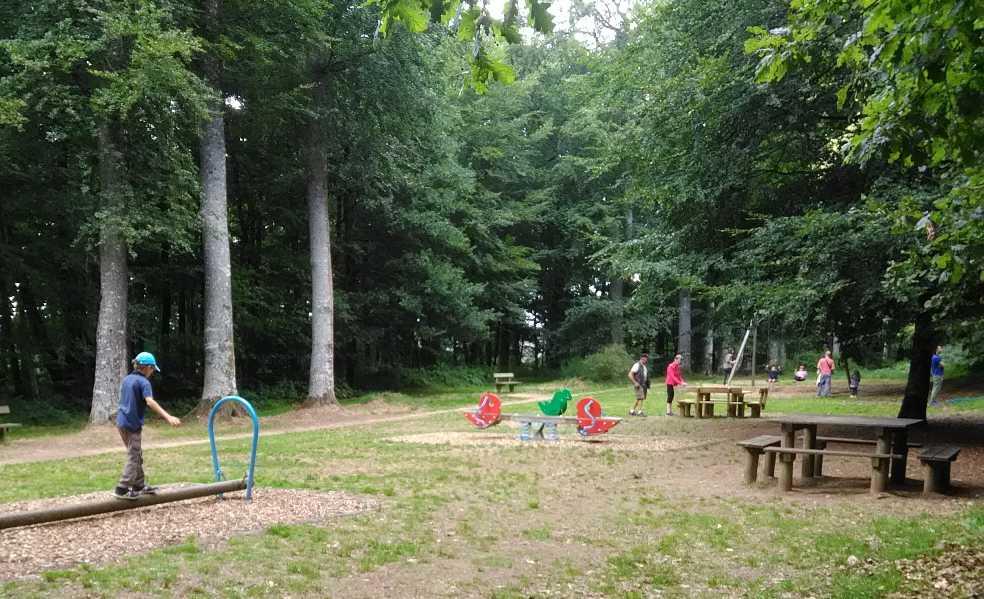 jeux enfants et tables de pique-nique dans le bois d'Athis
