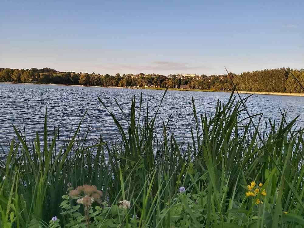 Coucher de soleil sur l'étang de la Ferté