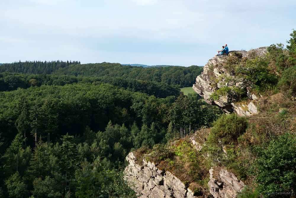 Du haut du belvédère de la Roche d'Oëtre