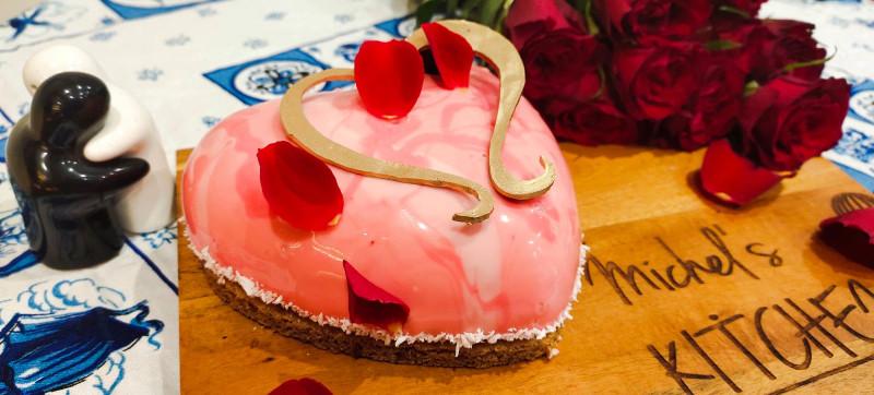 Le dessert de la Saint-Valentin Salon de thé Time for Tea